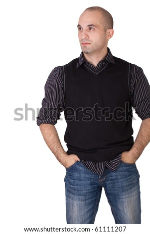 Man is standing - stock photo