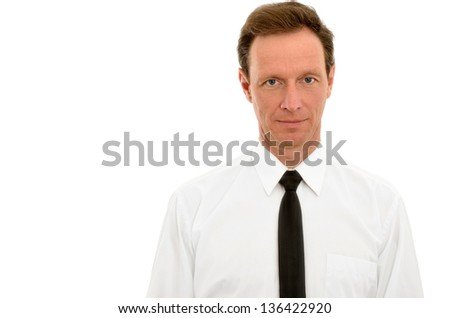 Man isolated on white - stock photo