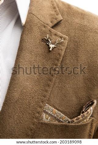 man jacket pocket icon deer - stock photo