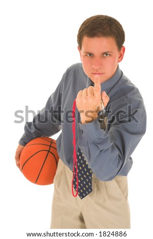 Man looking upset, holding a basketbal, calling you.l