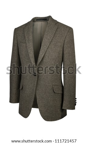 Man luxury cashmere coat isolated on white background