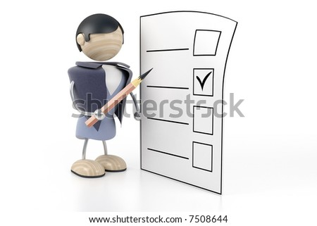man makes selection. abstract - stock photo