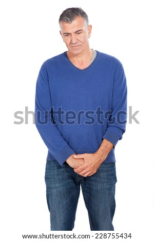man mourning - stock photo
