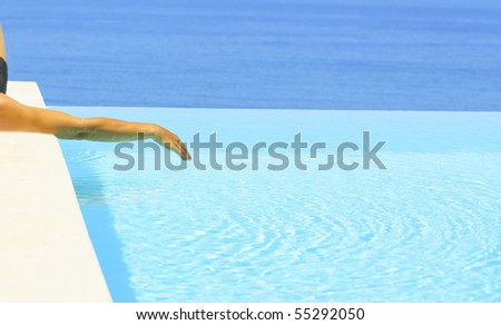 man near at water pool