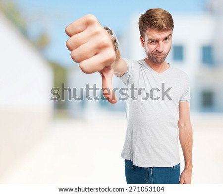 man no okay sign - stock photo