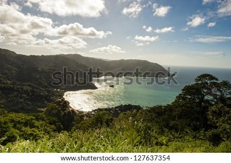 Man O War bay on Tobago - stock photo