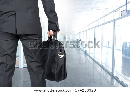 man of business with the suitcase