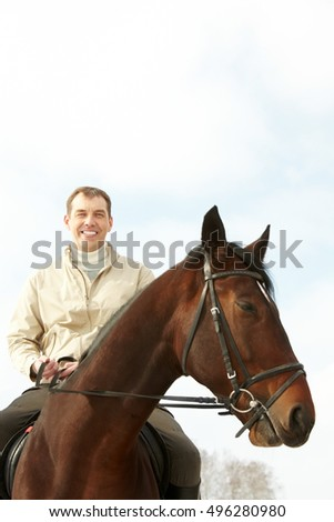 Man on a horseback