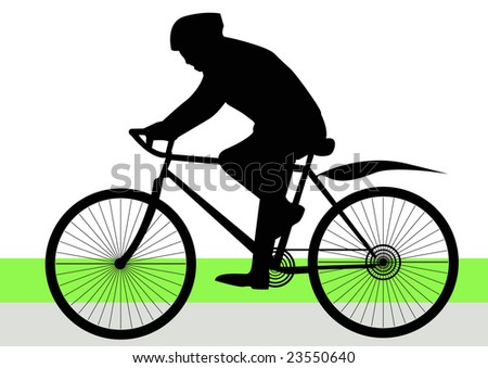 man on bicycle in park