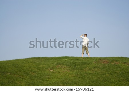 Man on green grass