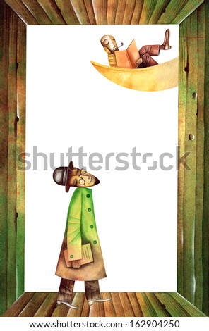 Man on the moon - stock photo