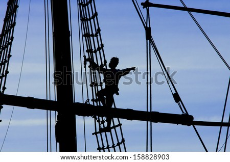 man on the rigging