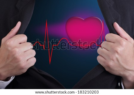 Man opened his heart to another poeple see on Valetine day
