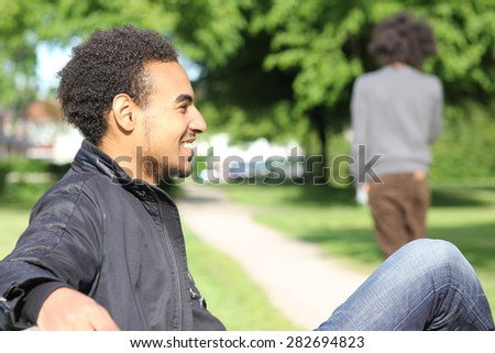 Man outside in the park