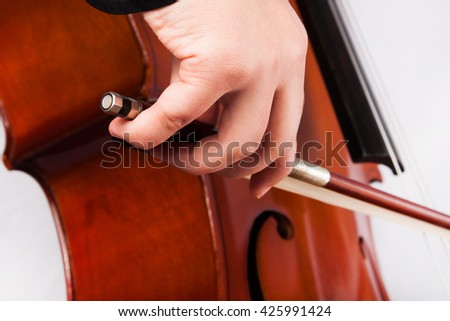 Man playing the cello. Classical music