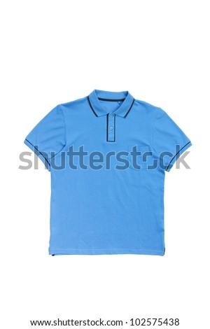 Man polo shirt isolated on white - stock photo