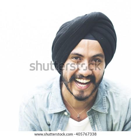 Man Posing Portrait Indian Ethnicity Concept - stock photo