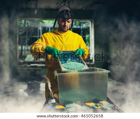 Man preparing meth