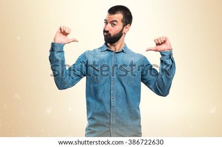 Man proud of himself - stock photo