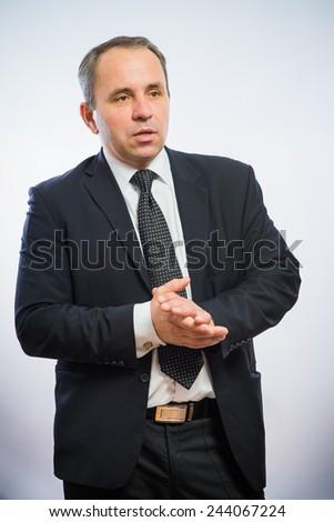 man pulling his sunglasses - stock photo
