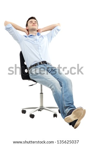 Man relaxing in chair