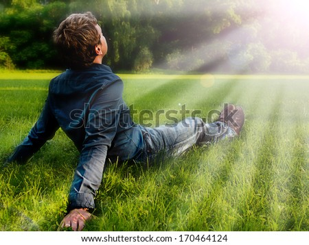 man resting - stock photo