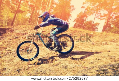 Downhill Mountain Bike Stock Images Royalty Free Images Vectors