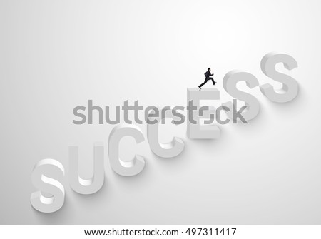 man run up stairs for success,business concept