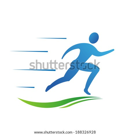 Man running fast. Abstract concept of fast activity,  courier, athletics, track and field, races,competition, marathon,quick delivery