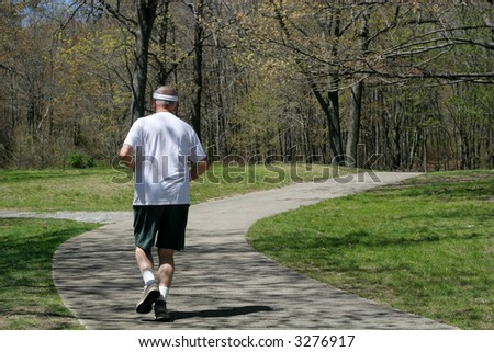 man running on path