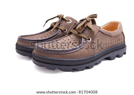 Man's casual shoes, with clipping path