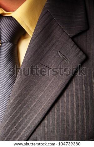 Man's classy suit - stock photo