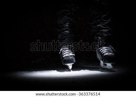 Man's hockey - stock photo