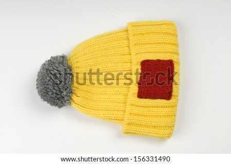 man's knitted sports caps  - stock photo