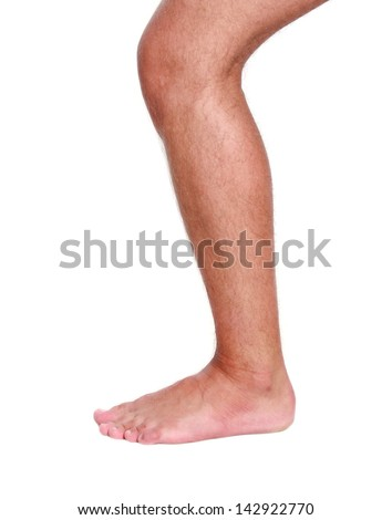 Man's Leg - stock photo