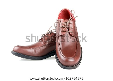 Man's shoe on a white background. - stock photo
