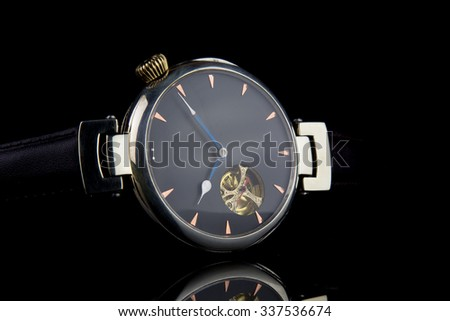 Man's watch. Luxury goods - stock photo