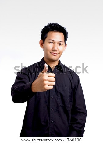 Man showing a good hand sign
