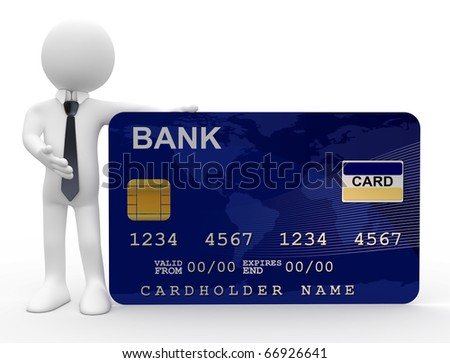 Man showing credit card - stock photo