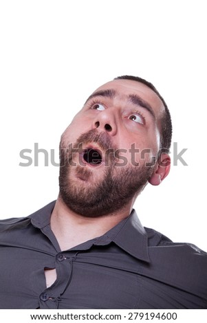 Man showing his emotion - stock photo