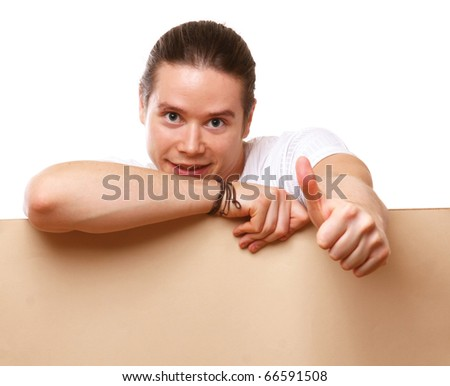 man showing OK - stock photo
