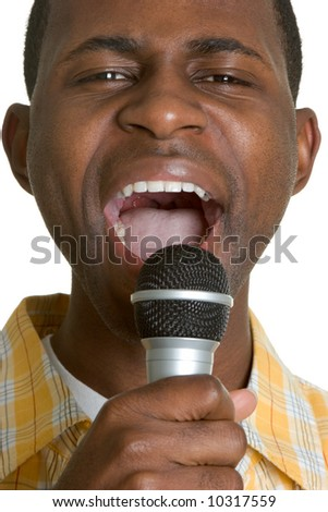 Man Singing - stock photo