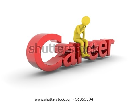 Man sitting on career level. High Resolution 3D render isolated on white.