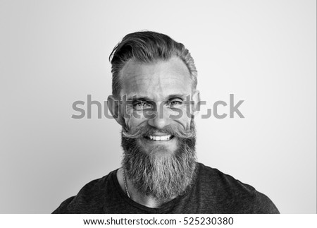 Man Smiling Happiness Carefree Emotional Expression Concept
