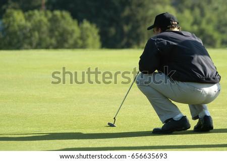 Thumb down golf pity