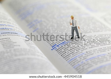 Man standing on the opened book