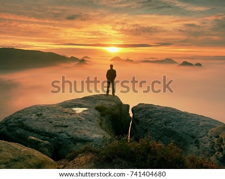 Stock Images RoyaltyFree Images Vectors Shutterstock - This man hikes up the transylvanian mountains every morning to photograph sunrise