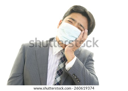 Man suffering from cold - stock photo