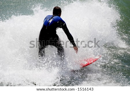 Man surfing. - stock photo
