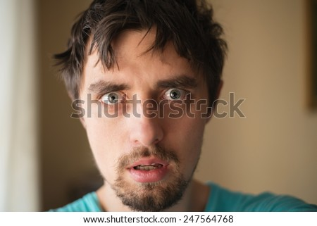 man surprised - stock photo